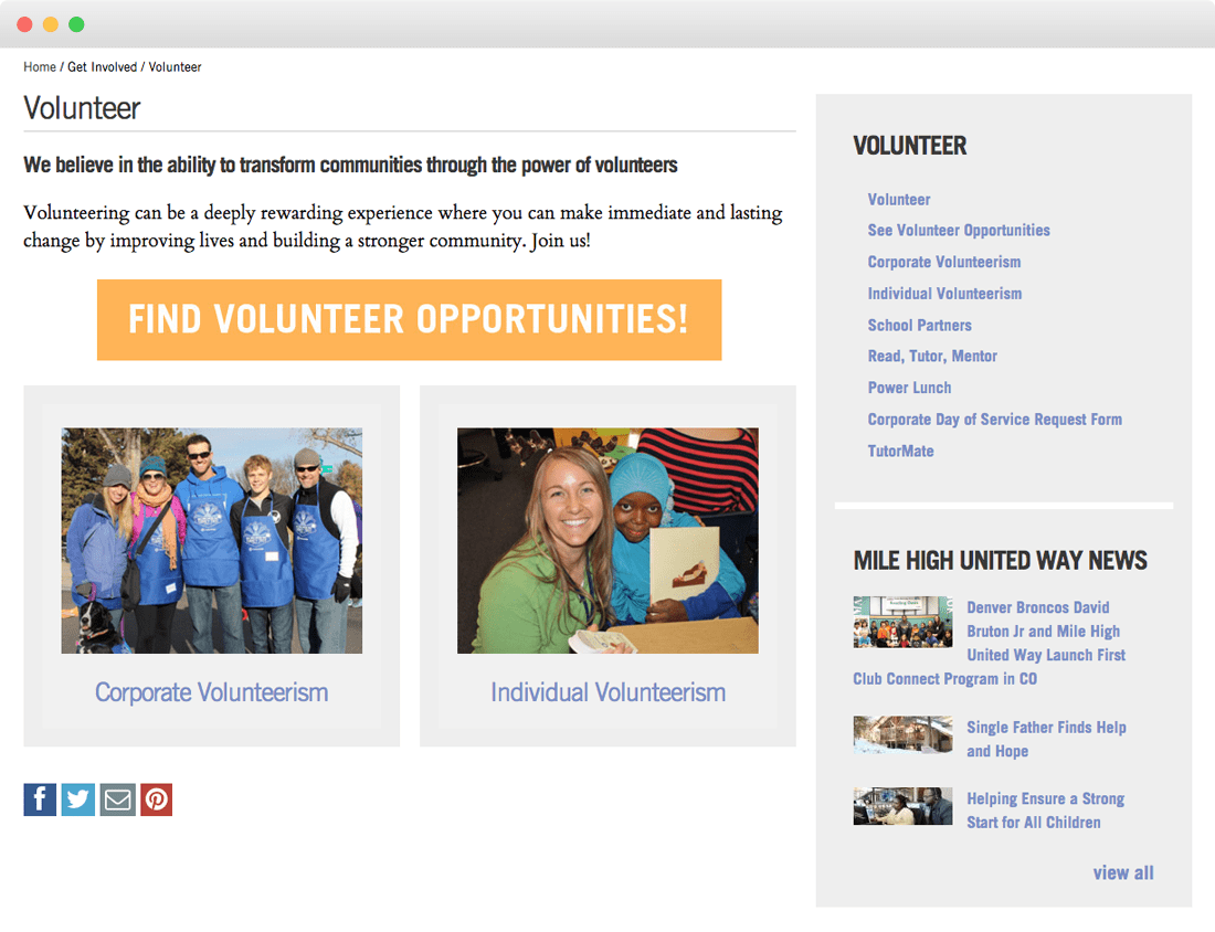 united way website
