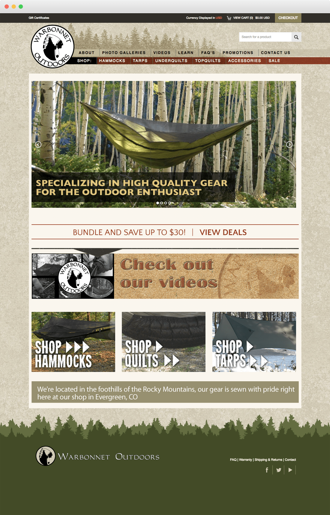 warbonnet home page